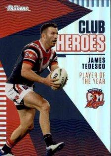2021 NRL Traders Club Heroes CH27 James Tedesco Roosters