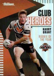 2021 NRL Traders Club Heroes CH32 Harry Grant Tigers