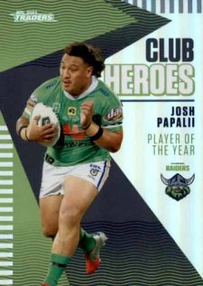 2021 NRL Traders Club Heroes CH3 Josh Papalii Raiders