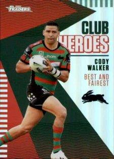 2021 NRL Traders Club Heroes CH23 Cody Walker Rabbitohs