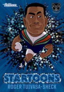 2021 NRL Traders Startoons Blue STBL17 Roger Tuivasa-Sheck Warriors