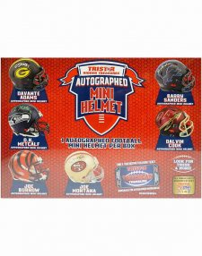 2021 TriStar Hidden Treasures Autographed Mini Helmet Football Hobby Box