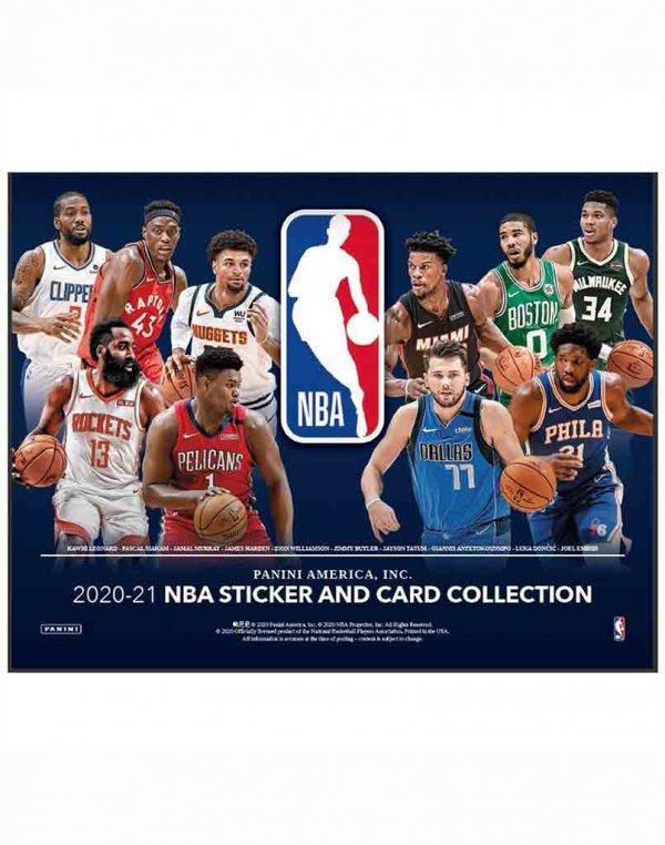 2020-21 Panini NBA Basketball Sticker and Card Collection Box
