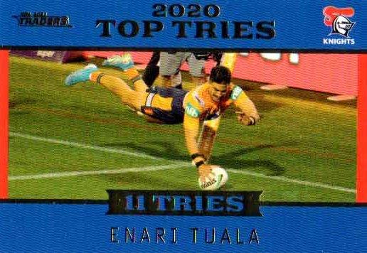 2021 NRL Traders Top Tries TT8 Enari Tuala Knights