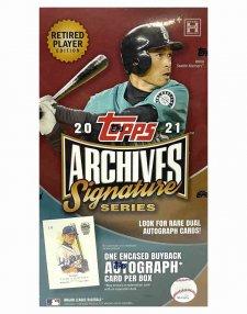 2021 Topps Archives Signature Series Retired Player Edition MLB Baseball Hobby Box