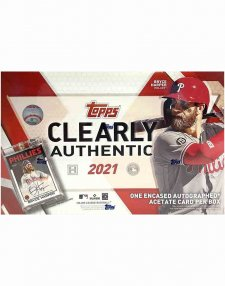 2021 Topps Clearly Authentic MLB Baseball Hobby Box