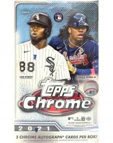 2021 Topps Chrome MLB Baseball Hobby Box