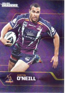 2013 NRL Traders Parallel P079 Justin O'Neill Storm
