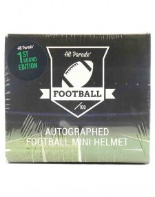 2021 Hit Parade Autographed Football Mini Helmet 1st Round Edition - Series 5
