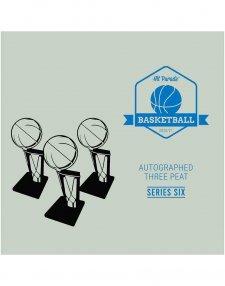 2020/21 Hit Parade Autographed Three Peat Basketball Box - Series 6